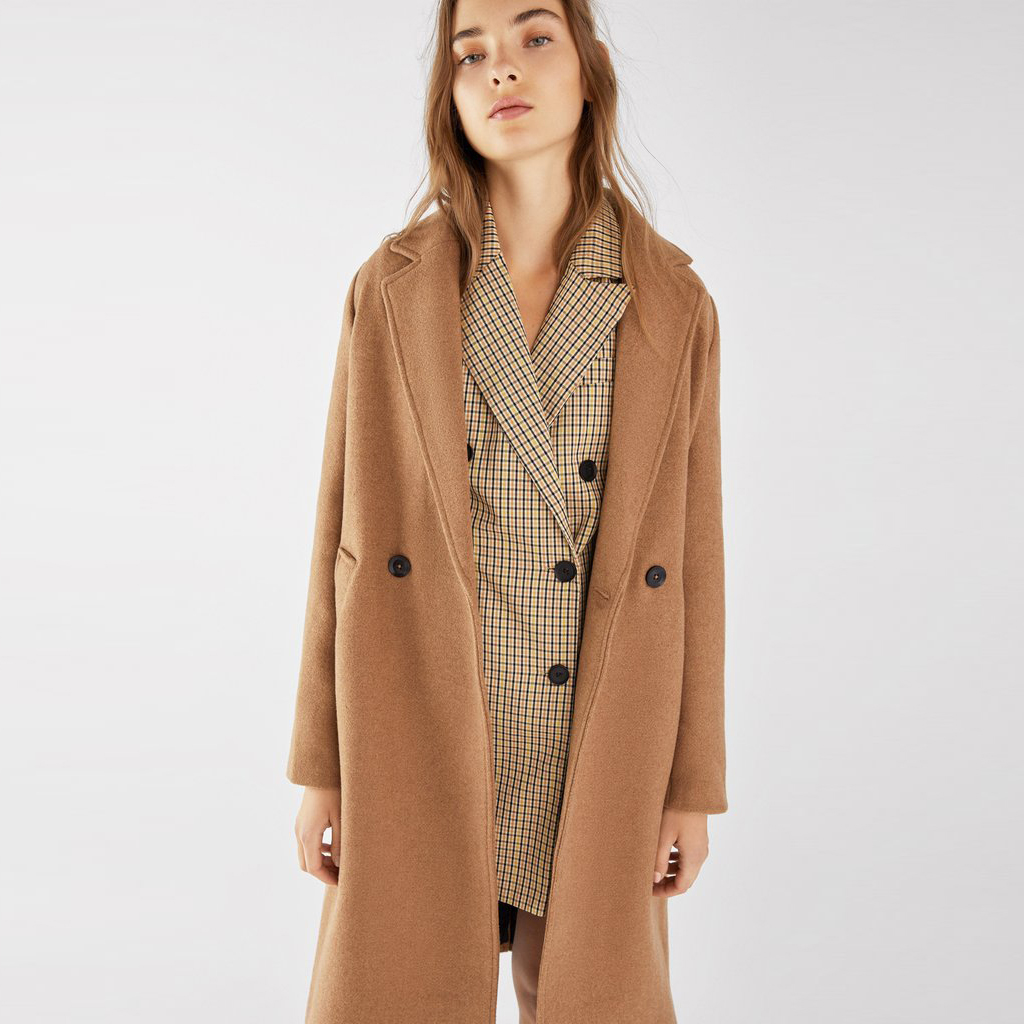 Straight long coat